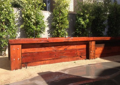 green landscaping Geelonglandscaping red gum retaining walls